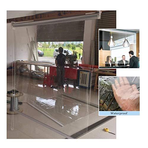 GDMING Claro Impermeable Cortina, 0.5mm Más Grueso Ventana Cortinas/Estores Enrollables, para Exterior Interior Pérgola Patio Impermeable A Prueba De Viento Puerta/Ventanas, Personalizable