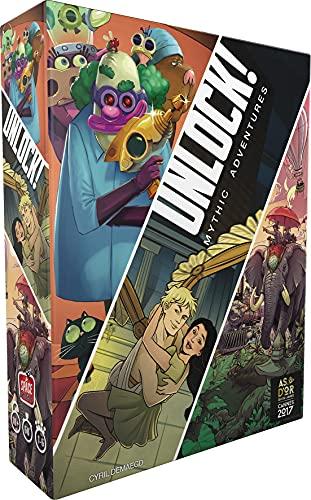 Asmodee Unlock Mythic Adventures Jeu de Société - Escape Game - Jeu Coopératif