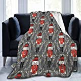 Christmas Nutcracker Dance Men Lap Blanket Cozy Thermal Blanket No Shedding Premium Flannel Throw Blanket Luxury Couch Throw Blanket Soft Sherpa Blanket for Bed Couch Car