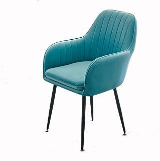 ZZRS cómodas sillas Asiento Acolchado Hotel Conference Silla for el hogar, Cocina 47 × 44 × 85 cm Comedor (Color : Blue)