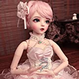 Y&D 1/3 BJD Doll 23.62 Inch 60CM Ball Jointed Dolls Reborn Figure + Full Set Accessories + Shoes + Hair + Clothes + Socks,A