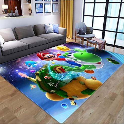 Haiqings Cartoon Anime Super Mario 3D-Druck Teppiche für Wohnzimmer Schlafzimmer Teppich Kinder Spielen Bodenmatte Kind Spiel Teppiche 200x300cm