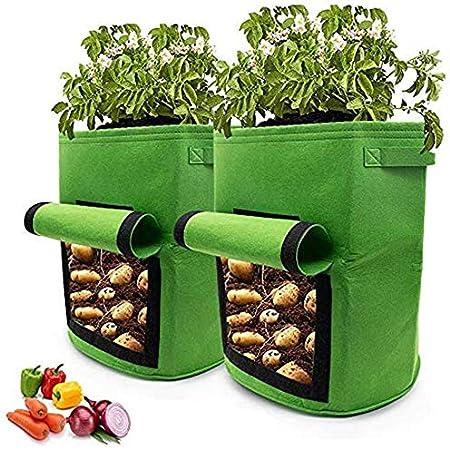 4 PCS 7Gallon Sac de Plantation de Pommes de Terre /à Fen/être MYYINGELE Sacs de Plantation de Jardin Sac de Culture pour Pommes de Terre,Sacs de Plantation de l/égumes