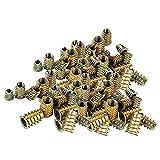 100 Pezzi Dadi esagonali in acciaio al carbonio zincato, Vite Inserti Filettati Kit, M4 M5 M6 M8 inserti filettati kit di utensili assortimento dadi per mobili in legno