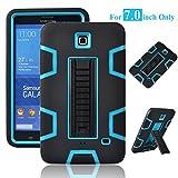 Galaxy Tab 4 7.0' Case, Magicsky 3in1 Heavy Duty Hybrid Shockproof Armor Kickstand Case for Samsung Galaxy Tab 4 7.0 inch T230 /T231/ T235 Galaxy Tab 4 Nook Cover - Blue/Black