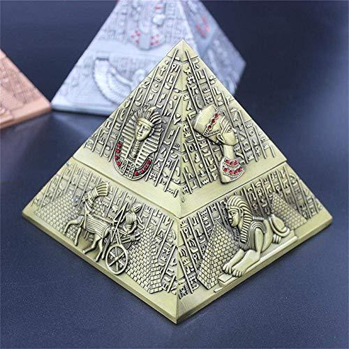 NACHEN Cenicero Egipcio Faraón Metal pirámide Creativa Adecuado para Club Hotel KTV decoración práctica