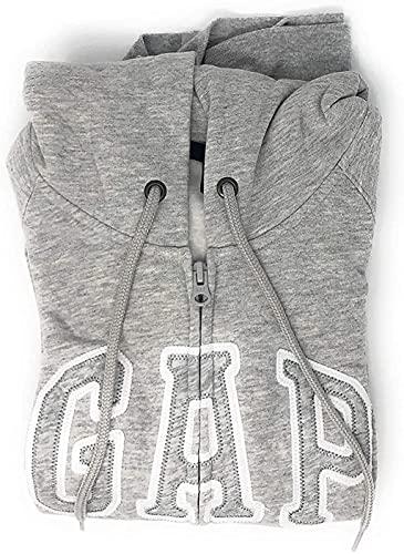 GAP moletom feminino com capuz e logotipo em fleece, Grey Heather, Small