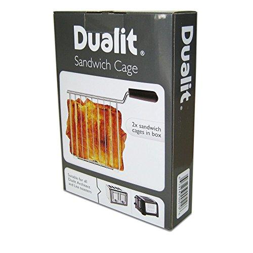 Dualit Sandwichzange für Dualit Toastermodelle Lite und Architect, für 2- und 4-Schlitz-Toaster geeignet, 2 Stück