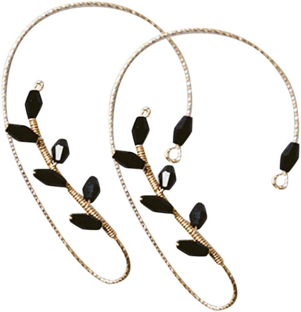 Henwerd Ear Cuff Earrings for Women Non Piercing Ear Hoop Earrings Stainless Steel Clip On Cartilage Earrings