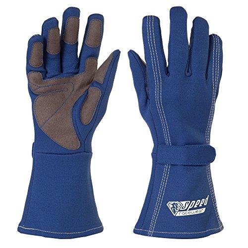 Speed Kartsport Handschuhe Auckland - Motorsport Handschuhe (blau, 9)
