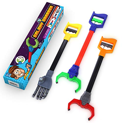 Interactive Toy Grabber, Robot Hand and Robotic Claw, 3 Pc Set, Fun Early Learning and Hand-Eye Coordination Play, Long 18 Inch Arm, Strong Grasping Tool