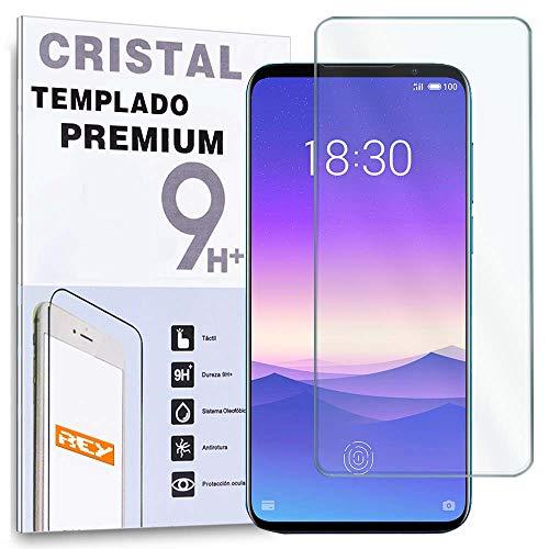 REY Protector de Pantalla para MEIZU 16th - MEIZU 16S, Cristal Vidrio Templado Premium