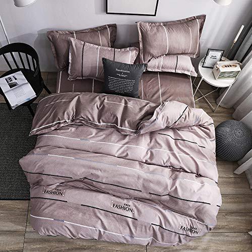 BHFDCR Bettbezug Bettwäsche Set 3 Teilig Gelber nordischer Wind 3D Digital Print 135 x 200 cm Weiche Bettwaren aus Mikrofaser Mit Reißverschluss 1 Bettbezug + 2 Kissenbezug, Schlafkomfort