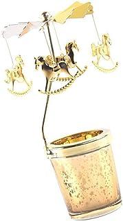 VORCOOL Portacandele Rotante da 2 Pezzi in Metallo con Luce Tea Tea Argento Fai-da-Te Porta Candele Tealight Rotante per Candele Tealight Decorazione Casa Festival