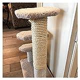 Changskj Arbre à Chat DIY Cat Twisted Sisal Rope Pet Remplacement Arbre à gratter Corde d'escalade (Size : 6mmx50m)