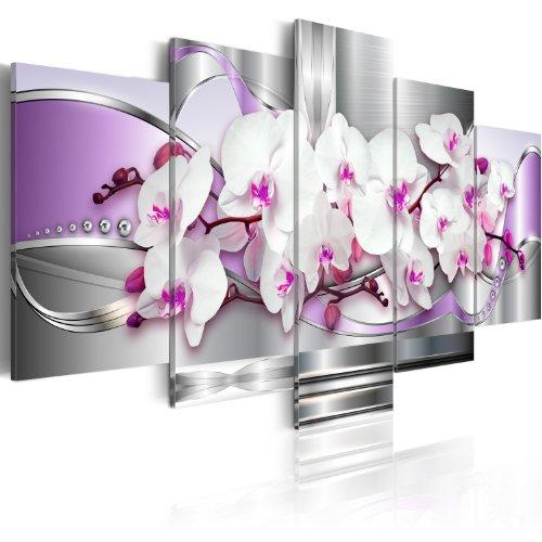 B&D XXL murando Quadro su Vetro Acrilico 200x100 cm 5 Parti Quadro Moderno Impreso Stampa Immagini Murale Fotografia Decorazione da Parete Fiori b-C-0101-k-m