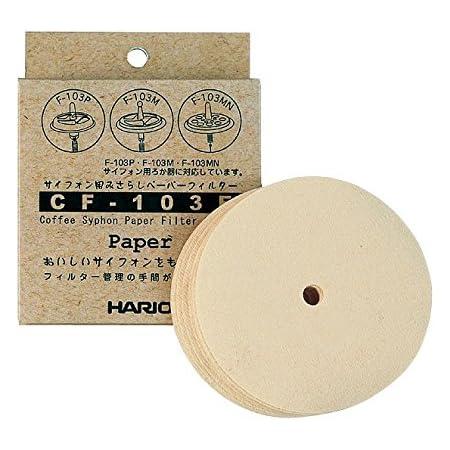 HARIO CF-103E Filtres à café Syphon, Tissu, Marron, Syphon-100 Pack