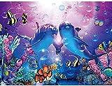 NC88 faça você mesmo Pintura digital para adultos crianças iniciantes kit acrílico de pintura digital com pincéis e tintas acrílicas presentes de decoração para casa casal golfinho