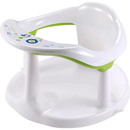 Infant Toddler Baby Girl Boy Bathing Seat with Anti-Slip Edge Baby Bath Chair for Sitting Up Baby Seat for Bathtub Provides Backrest Support(White)