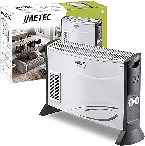 Imetec Eco Rapid, Stufa Elettrica 2000 W, Tecnologia a Basso Consumo Energetico, Termoconvettore 4 Temperature, Termostato Ambiente, Silenzioso