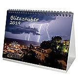 Blitzzauber - DIN A5 - Calendrier de table de qualité supérieure 2019 - Flash - Unwetter - Épices - Donner - pluie - tempête - Bruit de nuages - humeur - Daim - Naturel