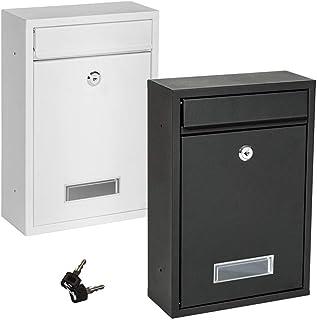 メールボックス 幼稚園の親のためのロック提案ボックスレターボックス 郵便受け (Color : White, Size : 26.2x35x8.3cm)