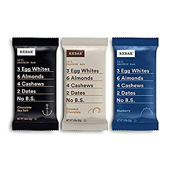 RXBAR Chocolate Sea Salt Coconut Chocolate Blueberry Variety Pack Protein Bar High Protein Snack Gluten Free 1.83 Oz 24 Count