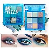 OLesley 9 colores Paleta de sombras de ojos Sombra de ojos multicolor con brillo mate Duradero Altamente pigmentado Paleta De Sombras De Ojos Cosméticos Maquillaje (04#My queen)