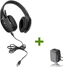 VXI BlueParrott S450-XT Bluetooth/NFC Stereo Mic Headphones Bundle - Bonus Wall Charger   Compatible for Streaming Music, MAC, Windows, Android Phone, Tablet, iOS iPhone, iPad, BlackBerry   203582-B