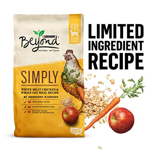 Purina Beyond Natural Limited Ingredient Dry Cat Food, Simply White Meat Chicken & Whole Oat Meal...