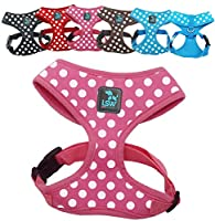 Prevents your small dog / puppy from pulling when walking on the lead Ultra-comfy: made from breathable, Soft Cotton Easy to fit with adjustable belt strap Reduces neck strain VERY IMPORTANT! Please Measure Around The Head To Make Sure The Head Can P...