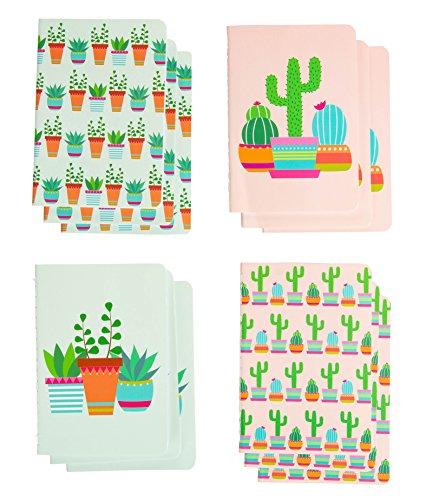 Paper Junkie Mini Kaktus Tagebuch Notizbuch, Partyzubehör (8,9 x 12,7 cm), 12 Stück