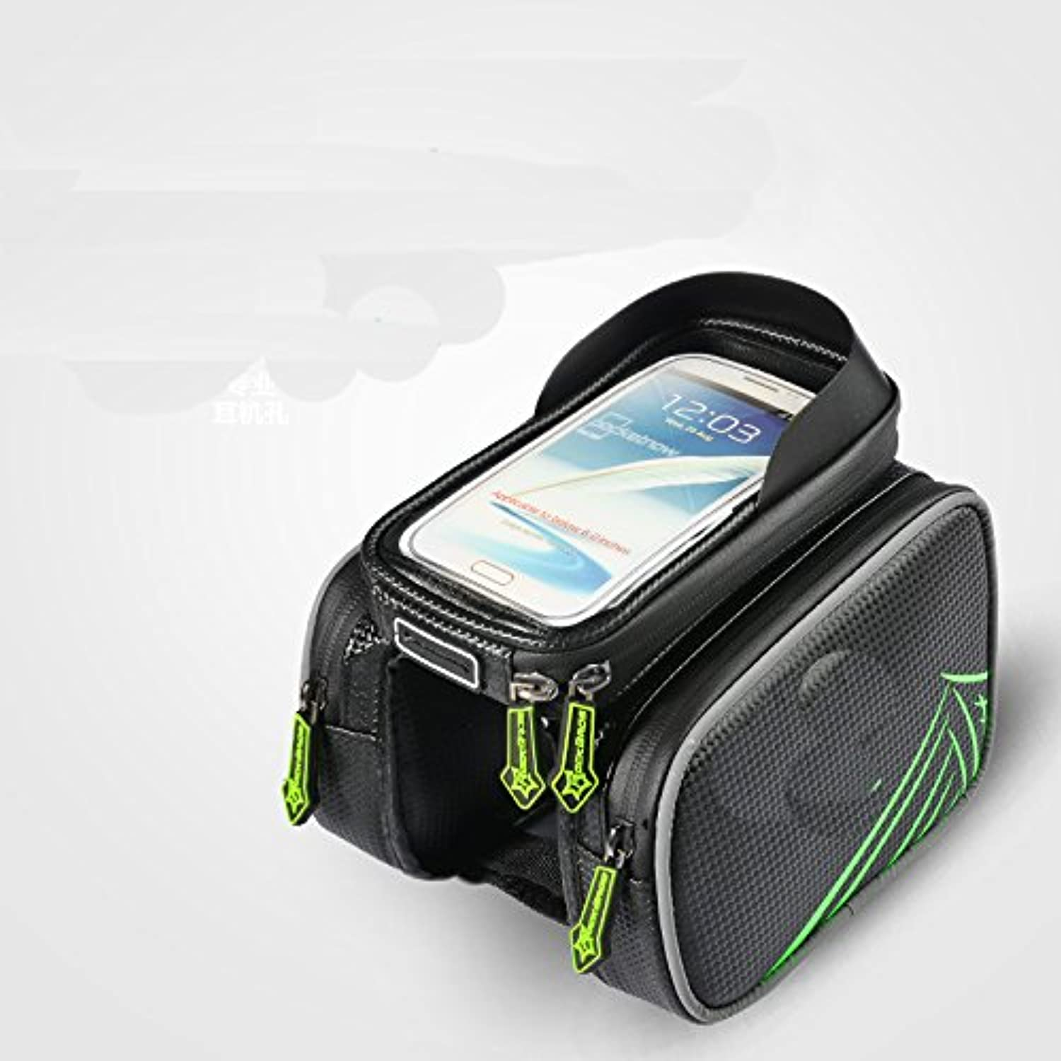 Bike Bag Pannier With Mobile Phone Holder. Compatible With iPhones, Samsung Galaxy & More,Style 11