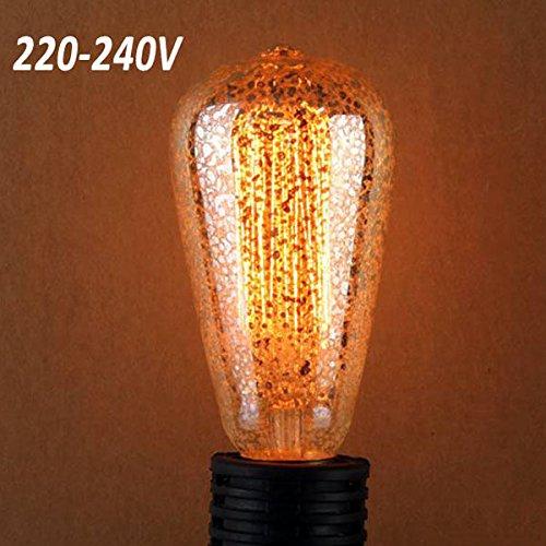Bazaar ST58 E27 40W Retro Edison-Glühlampe 220-240V AC Glhlampen