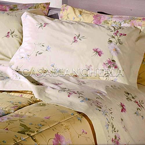 Completo Lenzuola Matrimoniale Caleffi Floral