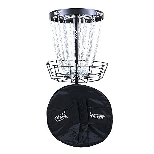 commercial Golf Basket with MVP Disc Sport Black Hole Pro 24 Chain Washer and Carrying Bag disc golf goals