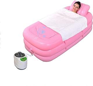 Steam sauna room for home - steam sauna spa IR Bathtub Plastic Portable Foldable Bathtub Soaking Bathtub Home SPA Bath Equip with Electric Air Pump-Pink-3L