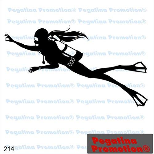 Icon Taucherin Hobby Aufkleber, ca.20 cm breite Hobbys Auto Autoaufkleber Sticker Heckscheibe Lack Vinyl Sport Sportaufkleber Auto-Aufkleber von Pegatina Promotion® Aufkleber mit Verklebehilfe von Pegatina Promotion®