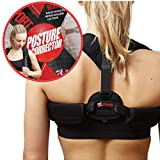 Posture Corrector for men and women by Rangel Pro - Adjustable back brace to support upper back, shoulder, neck. Back Straightener. Pain Relief. Slouching Correction. Upright Alignment Trainer, Unisex