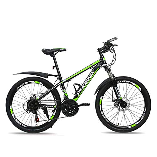 HUAQINEI 24' Kids Outdoor Bicycle 21-speed Adjustable,for 11-18 Years Old Boys And Girls Adjustable Children Mountain Bike