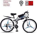 Bicicletas eléctricas para adultos Bicicleta eléctrica plegable, 36V350W Super Motor Potente, 50-90Km Resistencia, Tiempo de carga 3-5 horas, de 26 pulgadas de 21 velocidad de bicicletas de montaña, a