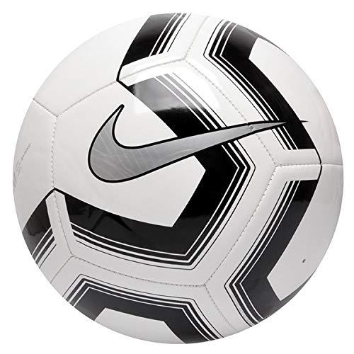 Nike Pitch Training Soccer Ball, Pallone da Calcio Unisex Adulto, White/Black/Silver, 5