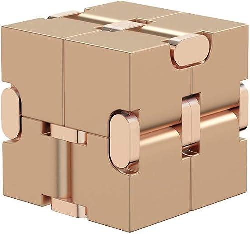 a precios asequibles YQCSLS Juguete de descompresión - - - Torcedura de Cubo de aleación de Aluminio - Juguetes de Rompecabezas - con rojoucción de la ansiedad y el estrés - Se Puede Doblar infinitamente ( Color   oro )  colores increíbles