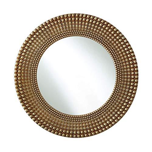 Miroirs Miroir De Salle De Bains Miroir De Courtoisie Miroir Mural Miroir Mural Rond Chambre Suspendue Au Miroir Mural Miroir Mural De Décoration (Color : Champagne gold, Size : 70cm/27.5inches)