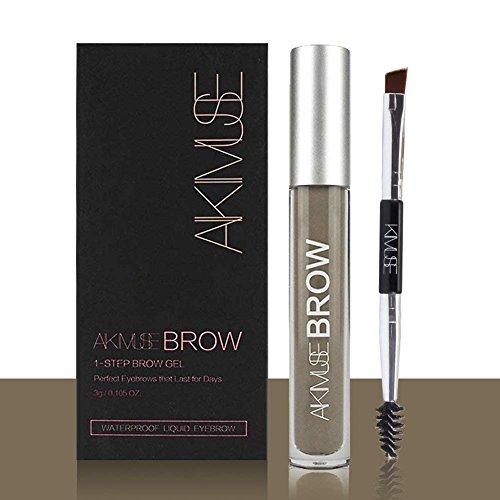Sourcils Gel,ROMANTIC BEAR Waterproof Longue Durée Crayon de Maquillage Eyebrow Colors Gel With Brush Set,Anti-décoloration (Blond)