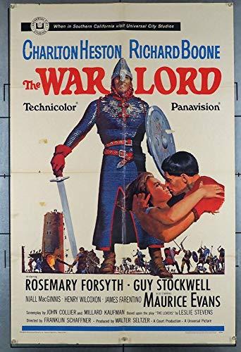 The War Lord (1965) Original U.S. One Sheet Movie Poster 27x41 CHARLTON HESTON RICHARD BOONE ROSEMARY FORSYTH MAURICE EVANS GUY STOCKWELL GARY KENT Film directed by FRANKLIN J. SCHAFFNER