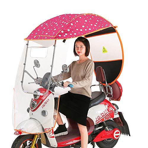 Regenhoes voor motorfiets, opvouwbare universele elektrische fiets Zonnescherm Regenhoes Batterij Waterdichte auto-luifel Paraplu, Elektrische auto Transparante luifel