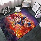 Lee My Manga Alfombra Diseño Funny Puerta Esteras Felpudo Entrada Floor Mat Área Alfombra Super Dragon Ball Alfombra De Decoración para El Hogar Máquina Washable-Perfet Regalo,a,20'x32'/1.6'x2.6'