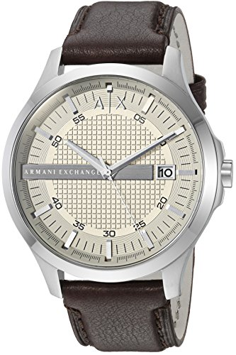 Armani Exchange Men's AX2100 Brown  Leather Watch