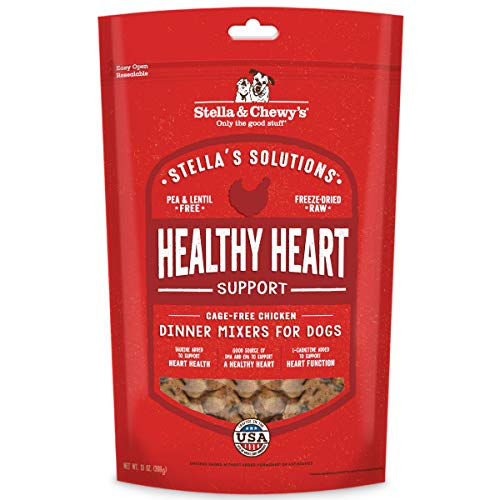 Stella & Chewy's Stella's Solutions Healthy Heart Support Cage-Free Chicken Dinner Mixers Freeze-Dried Raw Dog Food, 13 oz. Bag, Model:SOL-FDCH-13
